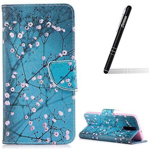 Slynmax Wallet Schutzhülle für Huawei Mate 10 Lite (5,9 Zoll) Hülle Briefcase PU Leder Tasche...