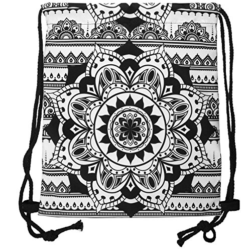 Cosey – Bolso deportivo con Allover-Print – Diseño Mandala Negro