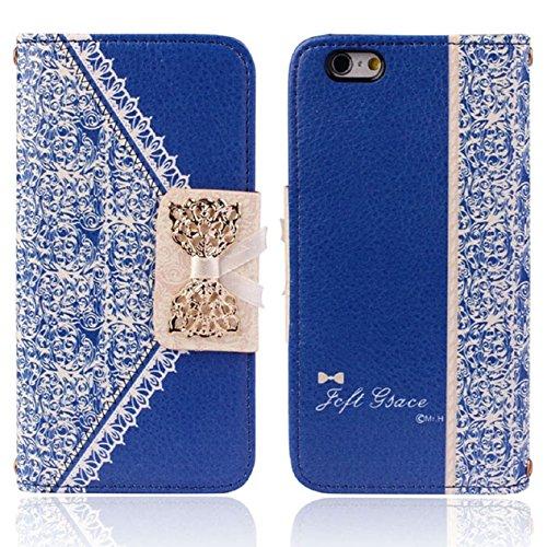 Malloom® Coque Pour iPhone 6 - Étui À Rabat En Cuir (Bleu) Pour iPhone 6