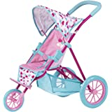 Zapf Creation 824146 Baby Born Puppenwagen, Petrol/rosa