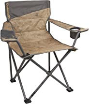 Coleman Company Big-N-Tall Topo Print Quad Chair, Tan/Brown,