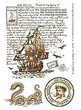 Tic-Tac Tampon en Caoutchouc Transparent Vintage Timbre Dragon 16x11cm