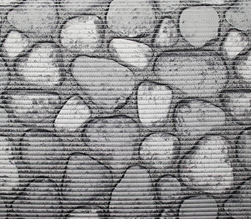 Anti-Rutsch-Badezimmermatte, 100 x 65 cm, Stein-grau