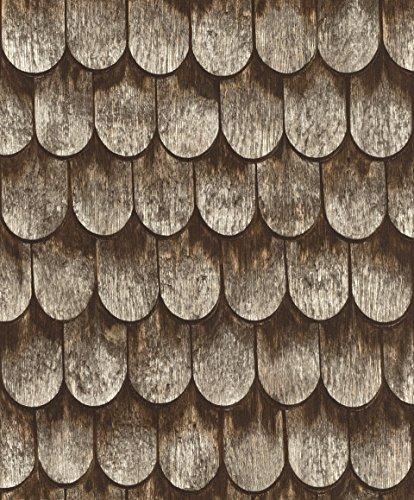 rasch Tapete 860702 aus der Kollektion b.b home passion VI - Vliestapete mit dunkler Holz-Optik - 10,05m x 53cm (L x B) (Dunkles Holz Wallpaper)