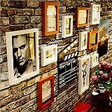 WAZY Foto Wand Fotorahmencollage Fotowandfotorahmencollage-Wandhängender Fotorahmen-Wandfotowand 11 Rahmen Schwarzweiss-Festholzfotowand (Farbe : B)