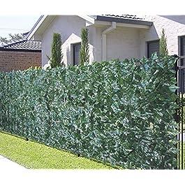 VERDELOOK Sempreverde® Point, Siepe Artificiale 1×3 m, Foglia edera, Decorazioni Giardino