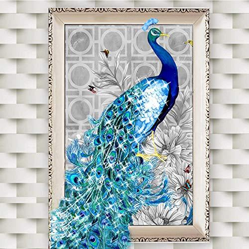 ZengBuks 5D Modische Diamanten Überzogene Stickerei Pfau Muster Malerei Kreuzstich Kits Home Schlafzimmer Wohnzimmer Dekoration