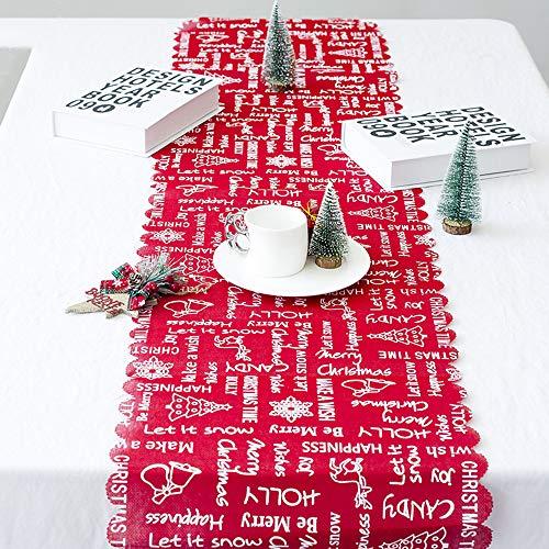 Gaddrt christmas ricamo lino runner bandiera tovaglie caduta di cassettiera ideale per le cene ristorante home decor arancione a