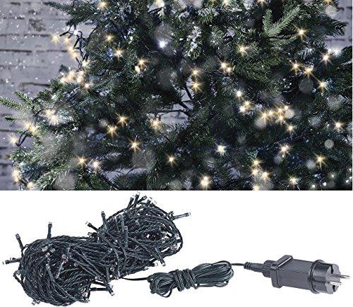 Lunartec Weihnachtskerzen: LED-Lichterkette mit 160 LEDs für innen & außen, IP44, warmweiß, 16 m (LED Ketten)