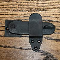 "Privacy Latch Door Cabinet Bathroom Black Vintage cast Iron Lock Rustic (Privacy Latch 4"")"