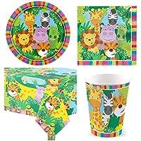 DUE ESSE Coordinato kit compleanno tema animali della giungla per 40  persone party feste e4b9a44e1162