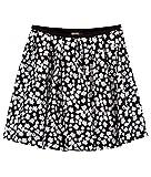 DKNY Designer-Seidenrock, schwarz-weiß Gr. 8