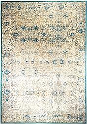 Luxor Living Vintageteppich Rossini, Verschiedene Designs, gewebt, hohe Qualität, Größe:80x150cm, Farbe:Türkis