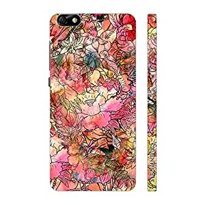 Enthopia Designer Hardshell Case Flowery Print Back Cover for Huawei Honor 4X