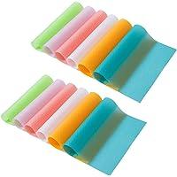 Bosdontek Lot de 12 tapis de réfrigérateur imperméables et antidérapants en EVA, également parfaits pour les tiroirs…