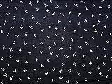 Floral Print Viskose Kleid Stoff, Marineblau, Meterware