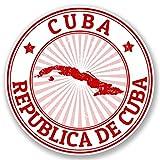 2 x 10cm/100 mm Cuba Auto-adhésif Autocollant Vinyle Autocollant pour portable Assurance voiture signer Fun #4729