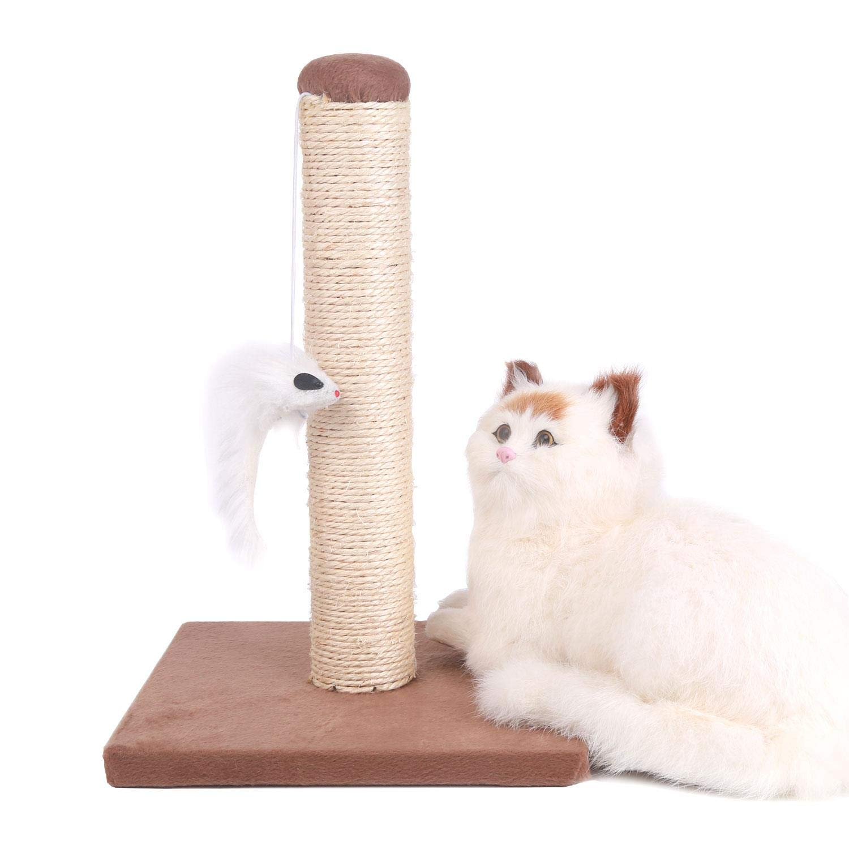 Nobleza – Poste rascador para Gatos de sisal con Juguete. Pequeño, Color Azul. Medidas: 25 * 25 * 35 cm