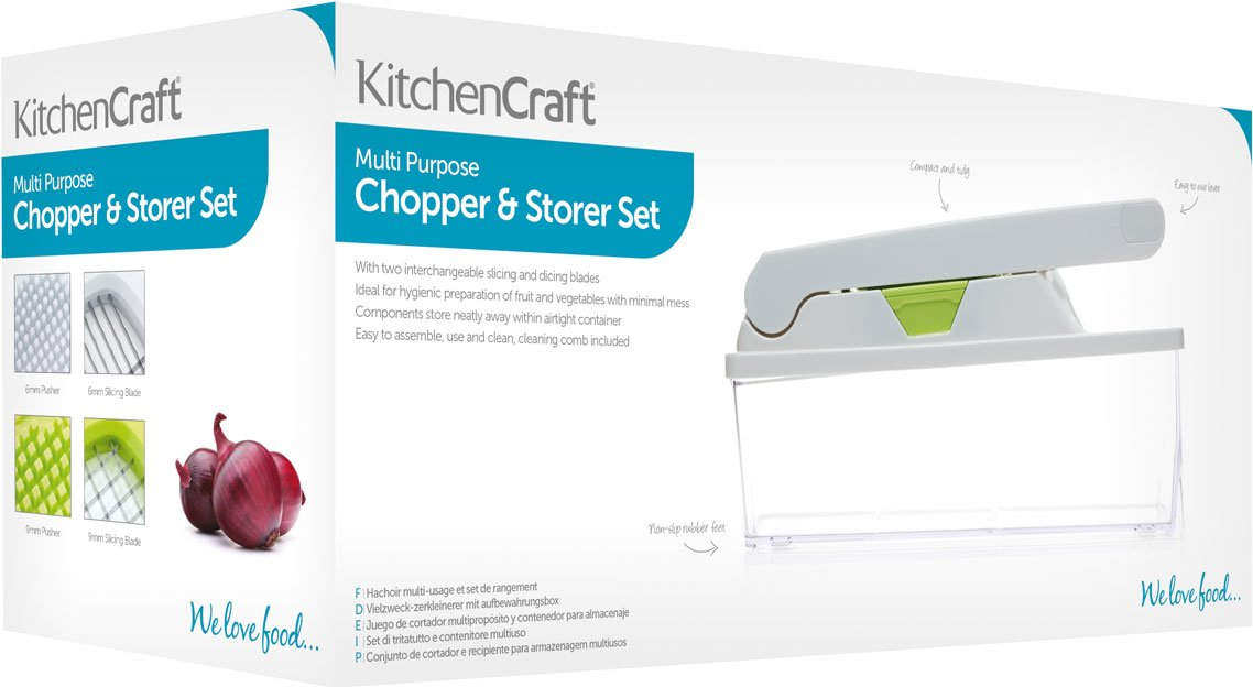 61 N9IXvZwL - KitchenCraft 2-in-1 Food Chopper and Storage Box Set