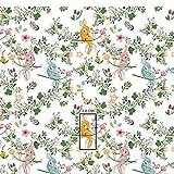 Pingianer 7,98€/m Vogel Blume Wolke 100% Baumwolle