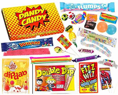 Dandy Candy Eighties (1980's) Retro Sweets And Candy Letterbox Friendly Gift Box