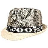 Cappello di Paglia Temuco Chillouts cappello di paglia cappelli da spiaggia M/56-57 - natura