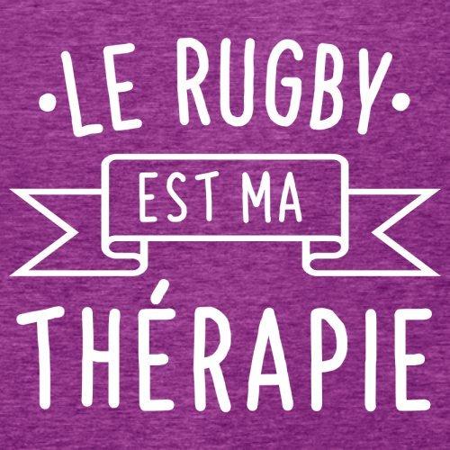 Le rugby est ma thérapie - Femme T-Shirt - 14 couleur Rose Antique