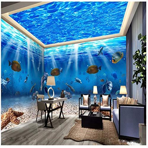 Syssyj Carta Da Parati 3D Vita Marina Pesci Fotografia Di Delfini Sfondo Europa Moderna Arte Murale Per Soggiorno Grande Dipinto Home Decor-200X140CM