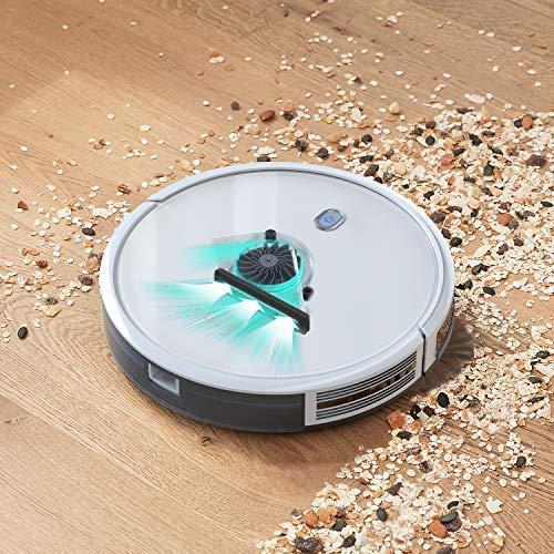 eufy Robot aspirateur RoboVac 11Slim - Robot Autonome Super Fin Silencieux à Aspiration Puissance 1300 Pa, Technologie BoostIQ, 100 Minutes d'autonomie