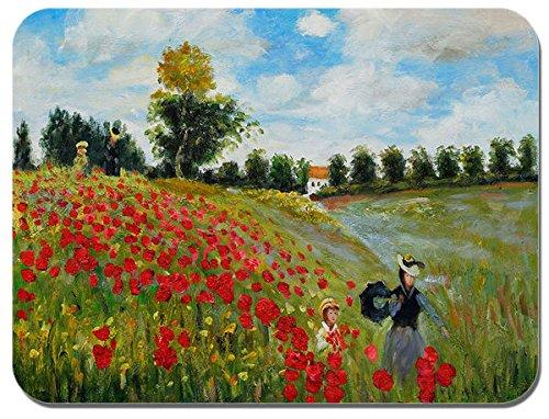 Claude Monet, Campo di papaveri a Argenteuil Tappetino per Mouse. Artistica di mouse pad