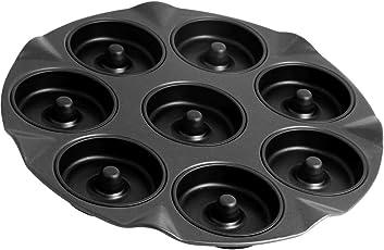 Zenker 8er Apfelküchli-Backblech, Apfelküchlein Backform, Backblech antihaft für 8 Kleine Kuchen mit Loch (Kuchenform: rund, Ø 8 cm), Menge: 1 Stück