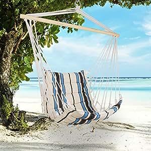 holifine chaise hamac jardin si ge suspendu de bandes ondul es fauteuil int rieur balan oire. Black Bedroom Furniture Sets. Home Design Ideas