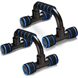 HUMBLE polypropylene Push Up Bar for Home & Gym Work Out for Men and Women (Blue)
