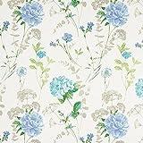 Fabulous Fabrics Leinenstoff Hortensie – wollweiss — Meterware ab 0,5m — Oeko-Tex Standard 100 — zum Nähen von Kissen und Tagesdecken, Tischdekorationen und Vorhängen