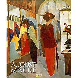August Macke 2019: Kunstkalender mit Werken des Künstlers August Macke. Großer Wandkalender mit Meisterwerken aus dem Expressionismus. Format: 45,5 x 55 cm, Foliendeckblatt