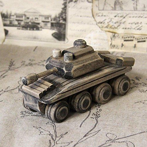 Vintage Panzer Deko Panzerwagen Tank Kettenfahrzeug Handmade Shabby Geschenk