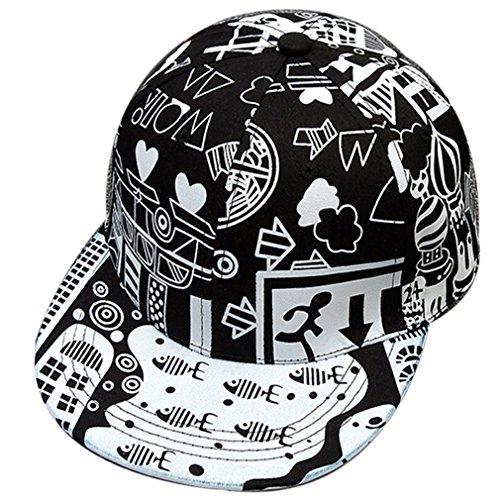 Belsen Damen Cartoon Stadt Graffiti Hüte Baseball Cap Trucker Hat (schwarz) Graffiti-trucker Hut