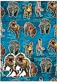 Einladungen im Dinosaurier Geschenkpapier & Tags–2Geschenkpapier Blatt & 2Tags
