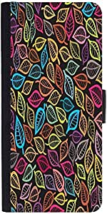 Snoogg A Seamless Pattern With Leaf Designer Protective Phone Flip Case Cover For Xiaomi Mi 4