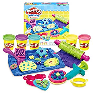 Play-Doh Kitchen Creations Cookie Creations Play Food Set For Kids 3 Years And Up With 5 Non-Toxic Colors