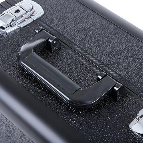 Songmics alu Kosmetikkoffer Beauty case größe fur nail tech aufbewahrung Etagenkoffer JBC313