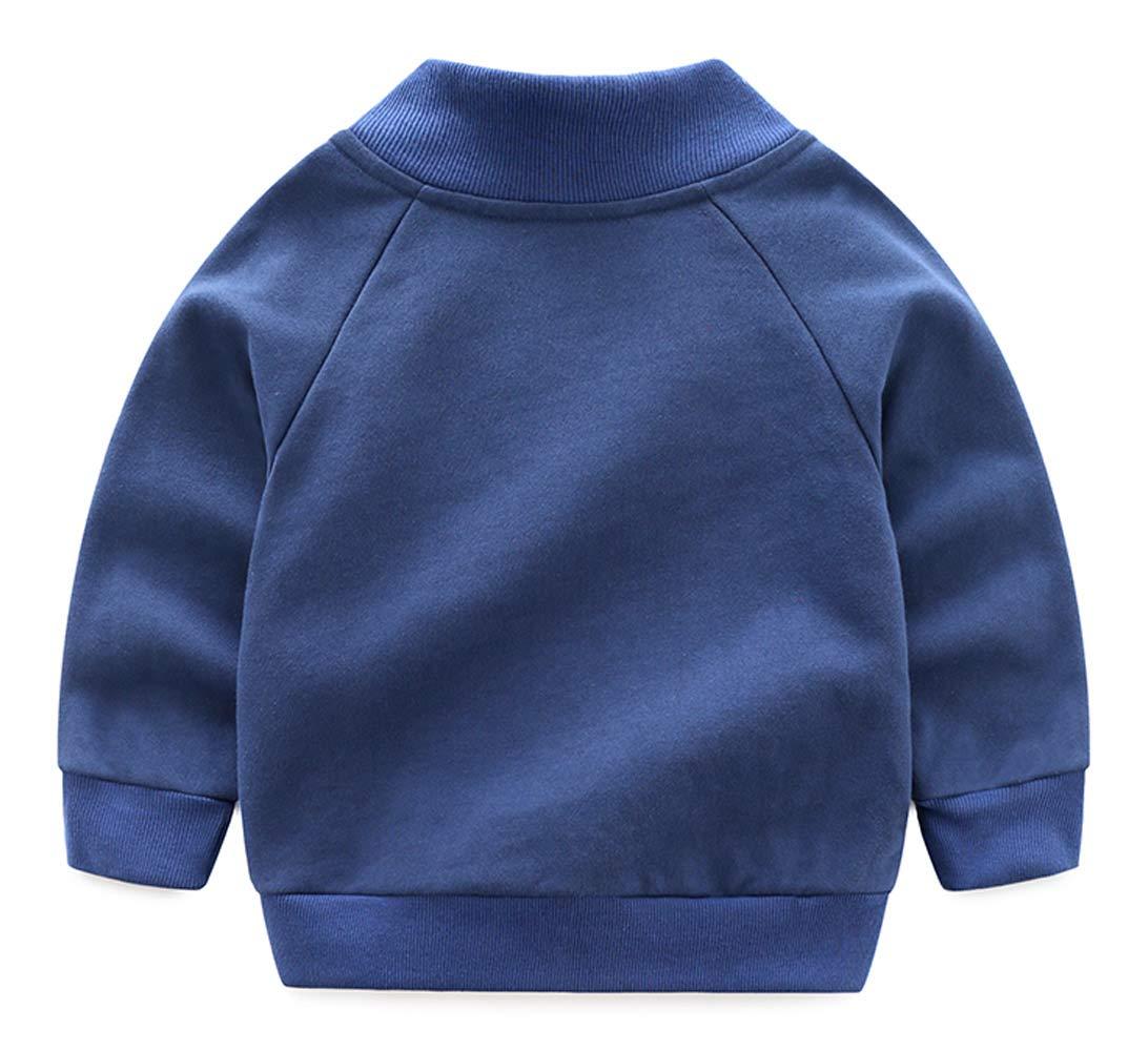 Haotong - Bebés Niñas Chaqueta de Algodón para Otoño Primavera con Capucha Cortaviento Abrigo Infantil para Niños con… 2
