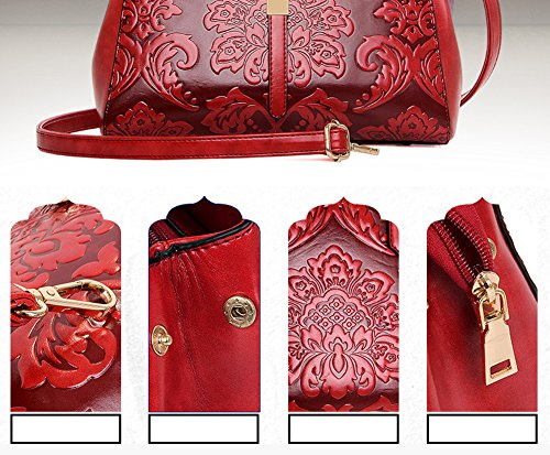 Volsgeat Fashion di alta qualità donne pochette designer vintage borsa tote bag borsa a tracolla messenger bag, Blue (blu) - C768 Red