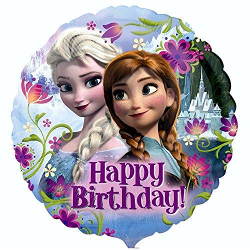 Globo feliz cumpleaños 43 cm Disney Frozen Reina de HIelo fiesta