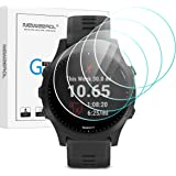 NEWZEROL 4 Pcs Compatible for Garmin Forerunner 945 Watch Tempered Glass Screen Protector, High Resolution Tempered Glass Scr