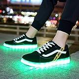 ZYFXZ Uomini E Donne Low-Top Scarpe da Tennis USB Scarpe Ricaricabile LED Light Impermeabile Lace Up 7 Colori Light Up Shoes