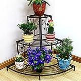 WEBO HOME- Disegno multistrato in stile europeo in stile floreale artigianale fiore scala a baldacchino scala scala bonsai telaio -Ripiani