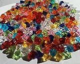 200 Stück 15mm glitzernde bunte Deko Eis Diamanten Brillianten Strasssteine Acrylsteine transparent klar kristall basteln Gltzersteine Schmucksteine Strass Steine zum Verzieren Dekorieren von CRYSTAL KING