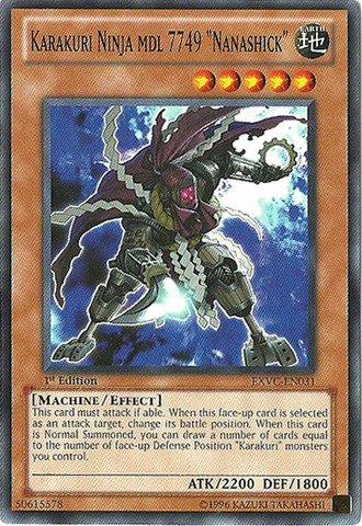 Yu-Gi-Oh! - Karakuri Ninja mdl 7749 Nanashick (EXVC-EN031) - Extreme Victory - Unlimited Edition - Common by Yu-Gi-Oh!
