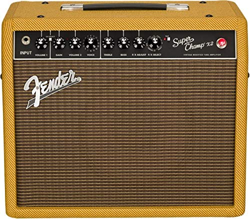 "Fender 2019 Limited Edition Super ChampTM X2""Ragin' Cajun"" Lacquered Tweed"